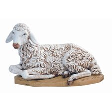 Scale Seated Sheep Nativity Figurine Christmas Decoration