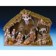Eleven Piece Figurine Set with Italian Stable