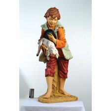 "50"" Scale Asher Boy with Lamb Figurine"