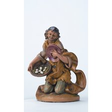 "12"" Scale Kneeling Ezra with Basket Figurine"
