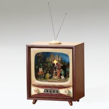 <strong>Fontanini</strong> Musical LED Nativity TV Plays Silent Night Figurine