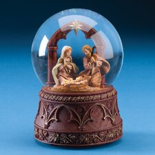 Musical Holy Family with Arch Glitterdome