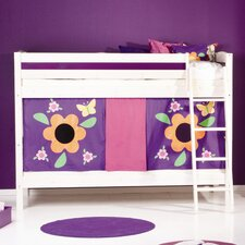 Trendy Flowers Ladder Bunk Bed