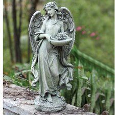 Angel with Bowl Decorative Bird Feeder