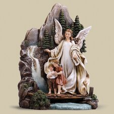 Guardian Angel on Bridge Figurine