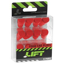 <strong>Lift Safety</strong> Lift Hearing Protection Foam Ear Plugs (Pack of 6)