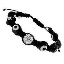 Crystal Woven Cord Bracelet