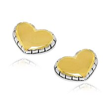 Designer Inspired Heart Post Earring