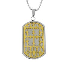 Stainless Steel Cross Dog Tag Chain Necklace