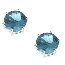 <strong>Moise</strong> Sterling Silver 925 CZ 8mm Brilliant Cut Round Stud Earrings