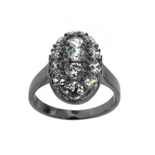 Brass Oval Cut Cubic Zirconia Ring