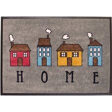 Easy Clean Home Grey Doormat