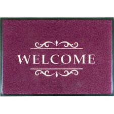 Easy Clean Bordeaux Welcome Doormat