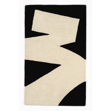 <strong>Twinkle Living</strong> Brush Stroke White/Black Rug