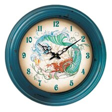 "I Sea Life 18"" Mermaid Wall Clock"