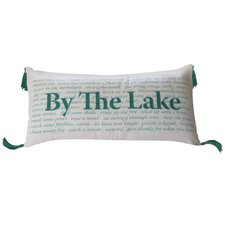 I Sea Life By the Lake Indoor Cotton Lumbar Pillow