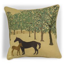 <strong>Rightside Design</strong> Abigail and Lily Equine Outdoor Sunbrella Summer Foal Horse Pillow