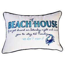I Sea Life Indoor Cotton Beachouse Inspiration Pillow