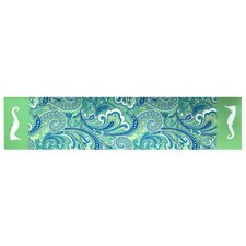 <strong>Rightside Design</strong> I Sea Life Paisley Printed and Applique Seahorse Runner