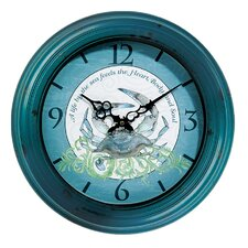 "I Sea Life 18"" Crab Wall Clock"