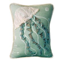 I Sea Life Jellyfish Indoor Cotton Toss Pillow