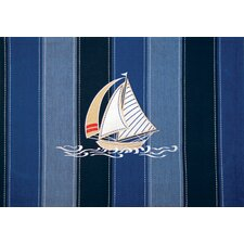 I Sea Life® Embroidered and Applied Sailboat Placemats (Set of 4)