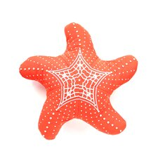 I Sea Life Embroidered Starfish Pillow