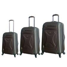 Cruz Embossed 3 Piece Hybrid Luggage Set