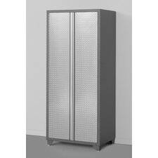 "Pro Diamond Plate 82.5"" H x 36"" W x 24"" D Locker Cabinet"