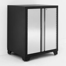 "Pro Stainless Steel 34.5"" H x 28"" W x 24"" D 2 Door Base Cabinet"