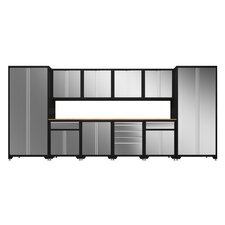 Pro Stainless Steel 7' H x 15.5' W x 2' D 12-Piece Cabinet Set