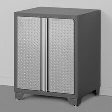 "Pro Diamond Plate 34.5"" H x 28"" W x 24"" D 2 Door Base Cabinet"