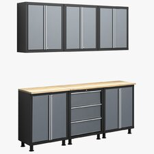 RTA Series 6' H x 6.5' W x 1.5' D 8-Piece Cabinet Set