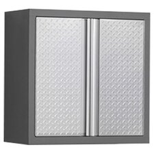 "Pro Diamond Plate 34.5"" H x 28"" W x 14"" D Wall Cabinet"