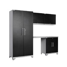 Diamond Plate Performance Plus Series 7' H x 8' W x 2' D 5 Piece Cabinet Set