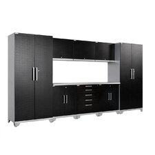 Diamond Plate Performance Plus Series 7' H x 15' W x 2' D 9 Piece Cabinet Set