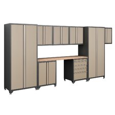 Pro Series 7' H x 15.5' W x 2' D 9-Piece Cabinet Set