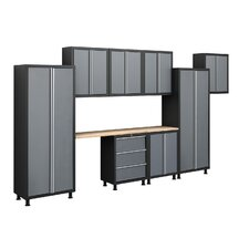 Bold Series 6' H x 14' W x 1.5' D 9-Piece Cabinet Set