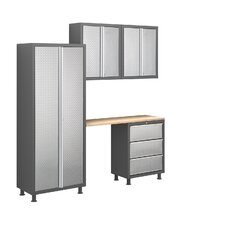 Bold Diamond Plate Series 5pc Cabinet Set