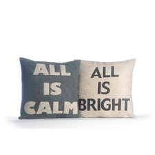 2 Piece All is Calm/All is Bright Pillow Set