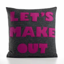 """Let's Make Out"" Decorative Pillow"