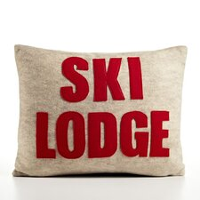 Weekend Getaway Ski Lodge Decorative Pillow
