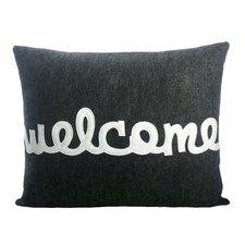 "<strong>Alexandra Ferguson</strong> ""Welcome"" Decorative Pillow"