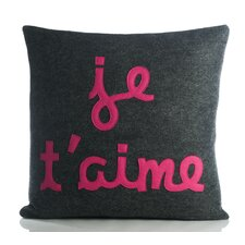 "It Starts with a Kiss ""Je T'Aime"" Decorative Pillow"