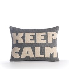 """Keep Calm"" Pillow"