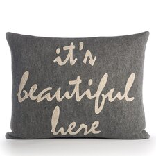 It's Beautiful Here Throw Pillow