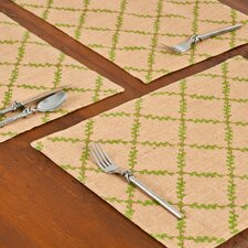 Trellis Burlap Place Mat (Set of 6)