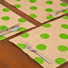 Dot Burlap Placemat (Set of 6)