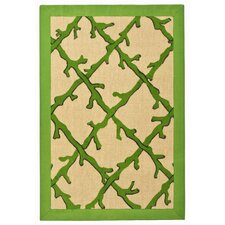 Green Coral Lattice Rug