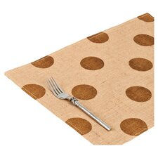 Dot Burlap Place Mat (Set of 6)